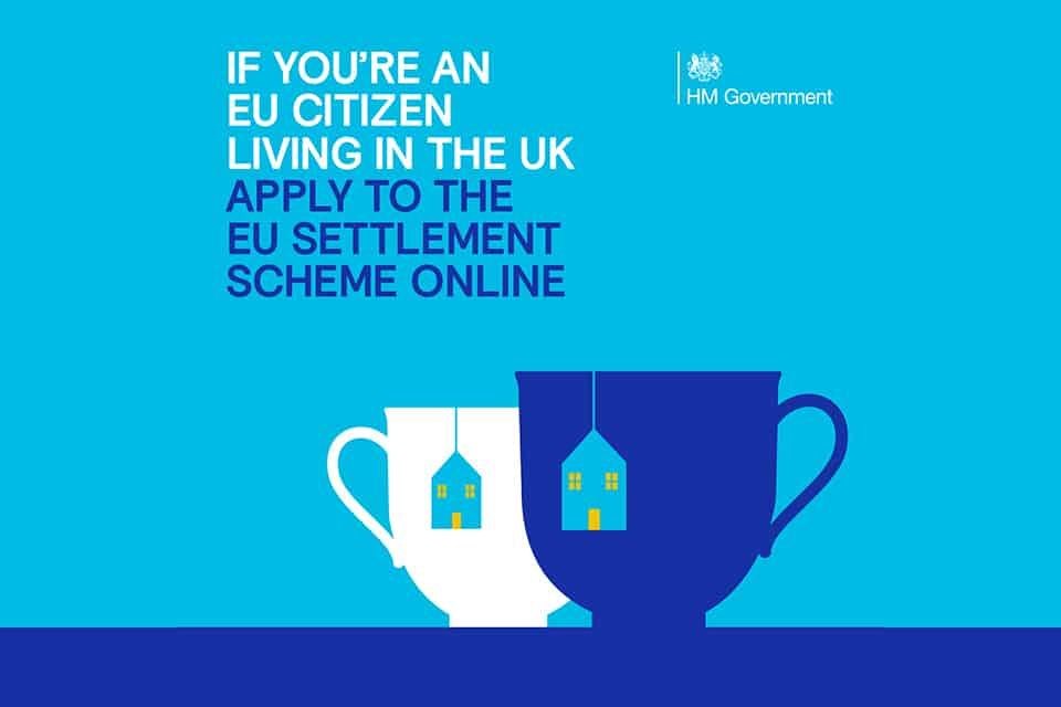 If you're an EU citizen living in the UK, apply to the EU settlement scheme online