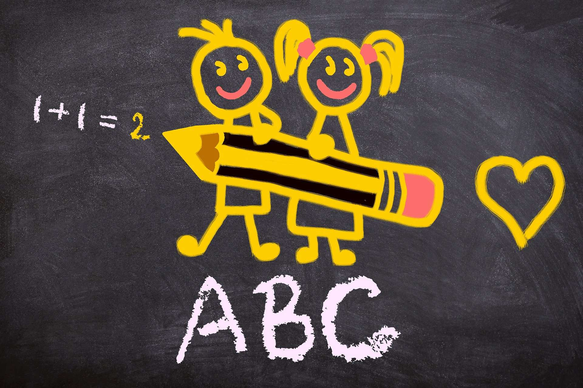 ABC written on a blackboard in chalk