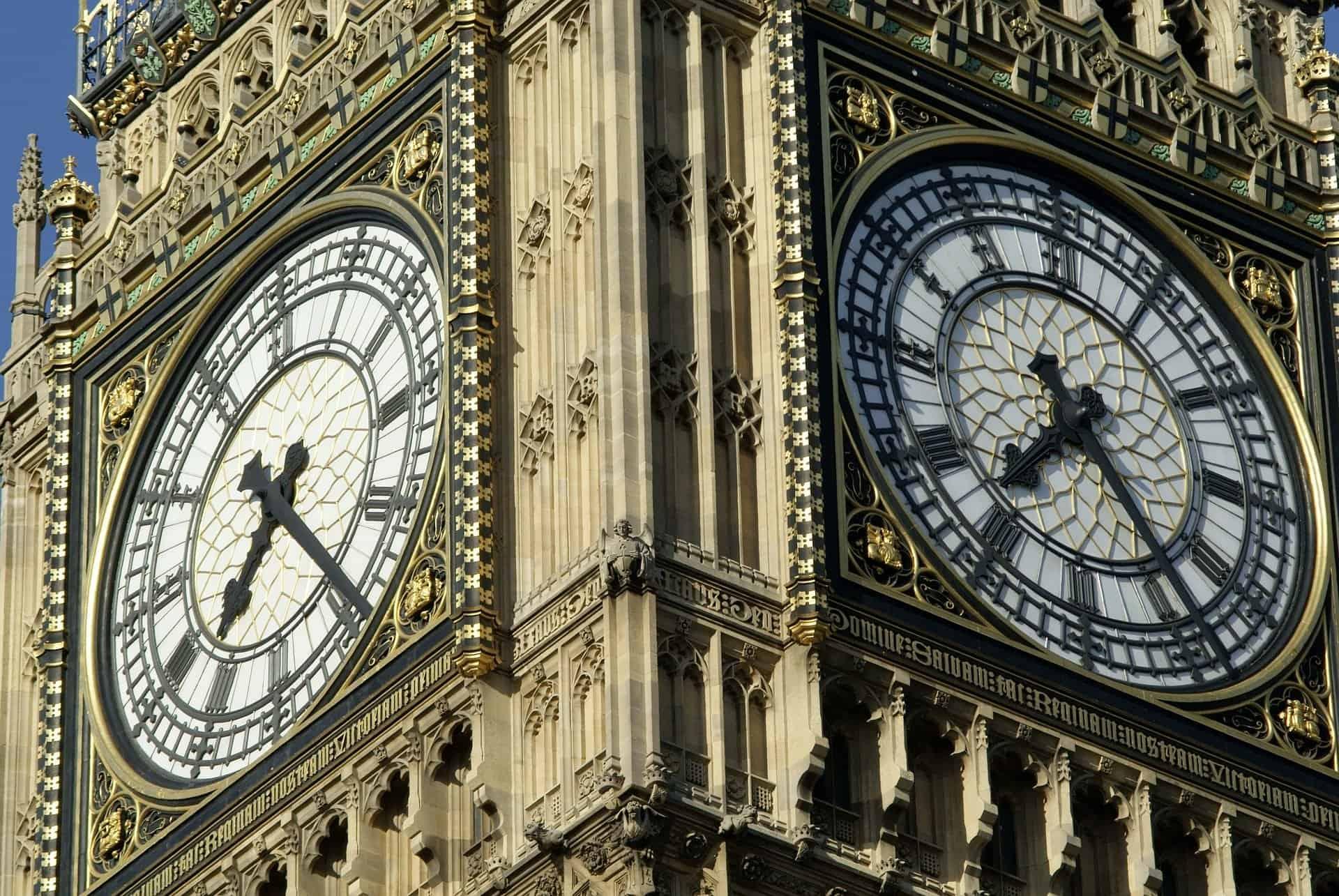 The Elizabeth clock tower, home of Big Ben