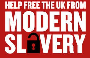 Help free the UK from Modern Slavery poster