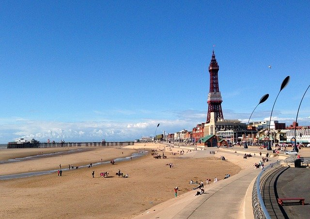 Blackpool beach front
