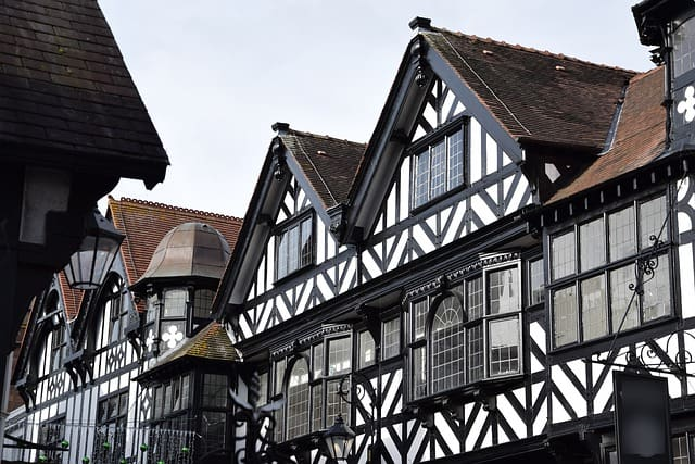 A traditional Tudor style house found in Chester
