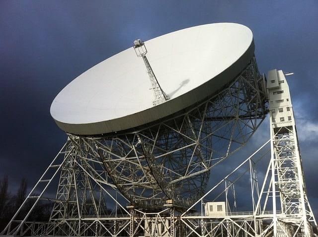 The huge telescope, Jodrell Bank in Cheshire East