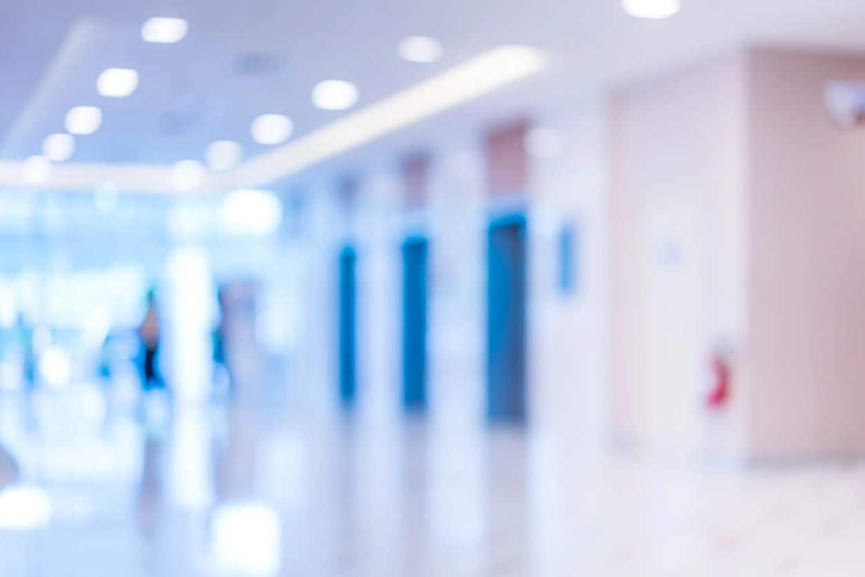Photograph of a hospital corridor