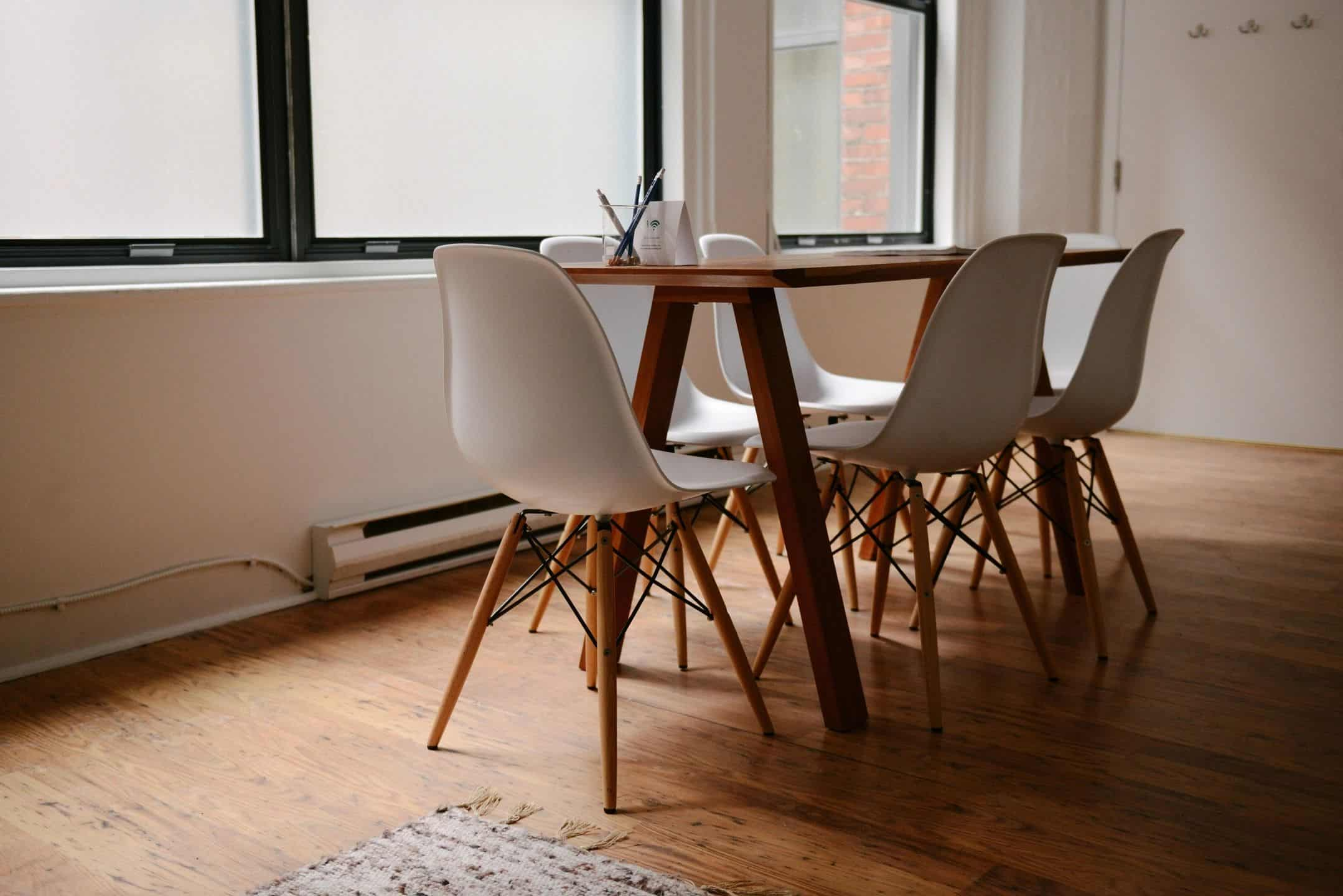 Photograph of a table and chairs